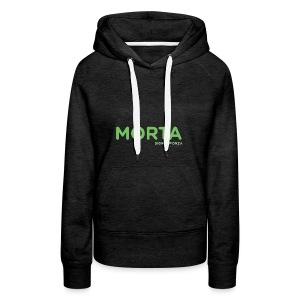 MORTA - Felpa con cappuccio premium da donna