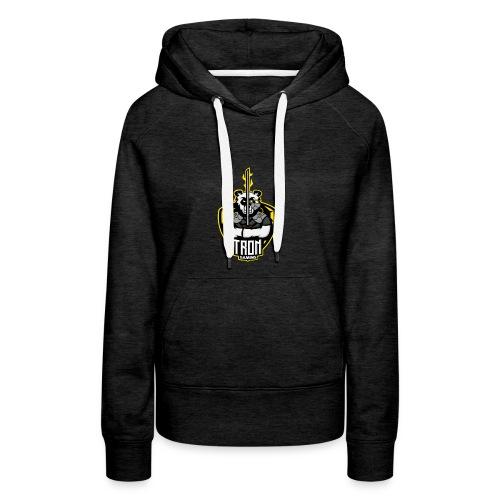 Tron-Gaming-Logo-Gelb-Transparent - Frauen Premium Hoodie