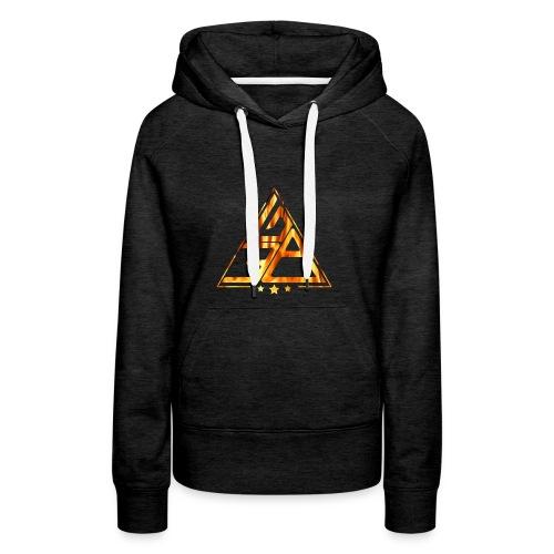 Triangle de feu - Sweat-shirt à capuche Premium pour femmes