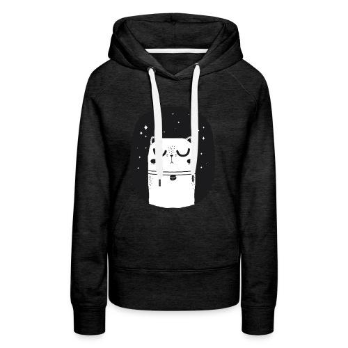 WHITE_CAT - Frauen Premium Hoodie