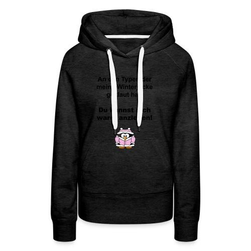 pinguin_winterjacke - Frauen Premium Hoodie
