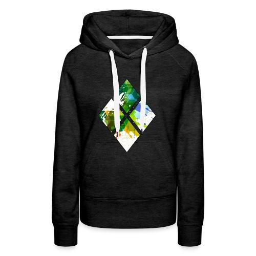 4-Diamanten-Grün - Frauen Premium Hoodie