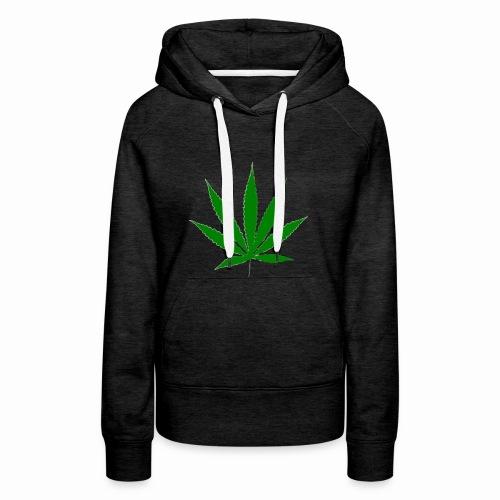 basice weed leaf - Women's Premium Hoodie
