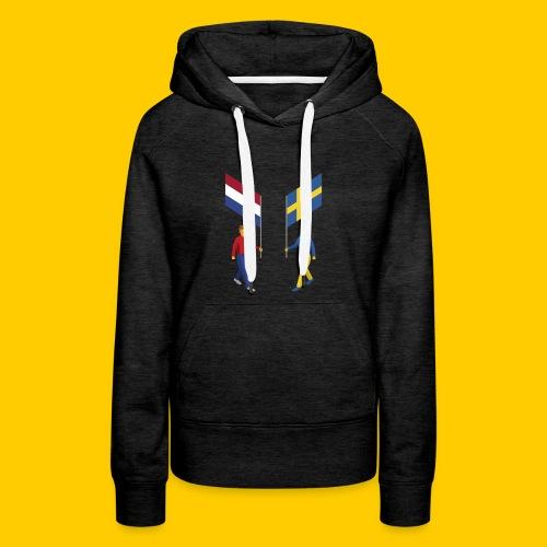 Walking with flags - Vrouwen Premium hoodie