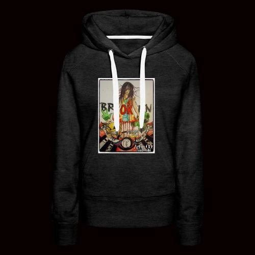 BrOKen - Sweat-shirt à capuche Premium pour femmes