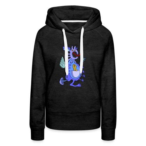 Blue Dragon - Felpa con cappuccio premium da donna