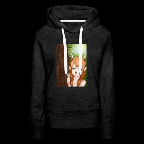 Sam sung s6:Deer-girl design by Tina Ditte - Women's Premium Hoodie