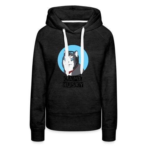 Maglietta Bianca Game Husky - Felpa con cappuccio premium da donna