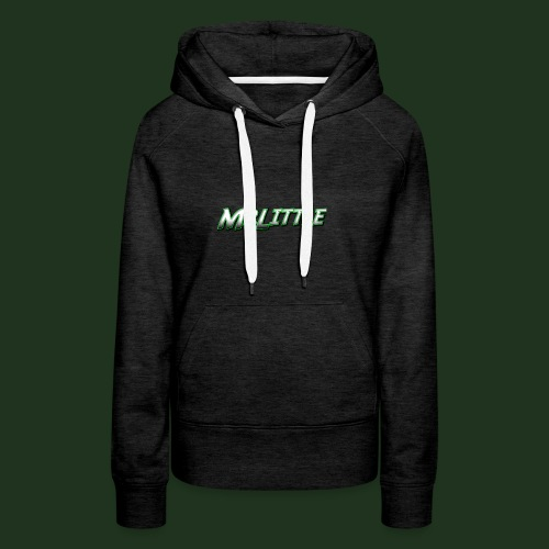 A simple text which fits on dark colours. - Women's Premium Hoodie