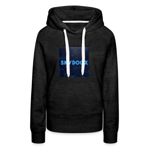 Logo YOutube - Sweat-shirt à capuche Premium pour femmes