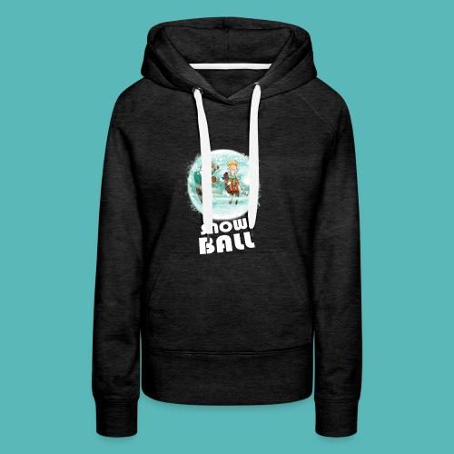 snow ball - Sudadera con capucha premium para mujer