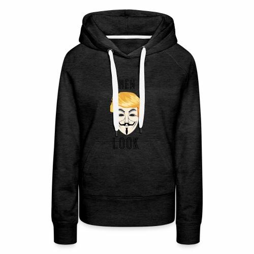 New Look Transparent /Anonymous Trump - Felpa con cappuccio premium da donna