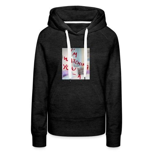 sam-sung galaxy s6 (I am watching you case) - Vrouwen Premium hoodie