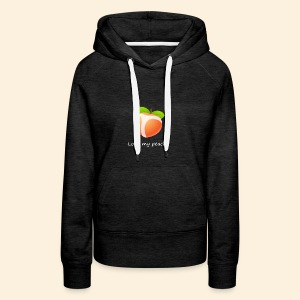 Look my peach in white - Women's Premium Hoodie