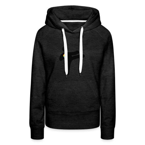 Silhouette-PBC-noir - Sweat-shirt à capuche Premium pour femmes