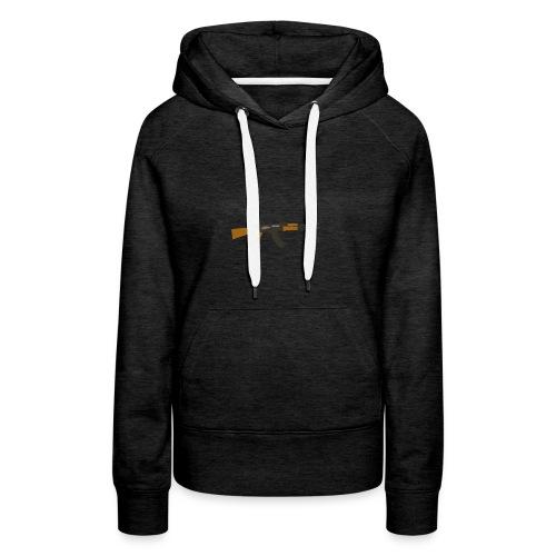 fire-cartoon-gun-bullet-arms-weapon-drawings-png - Vrouwen Premium hoodie
