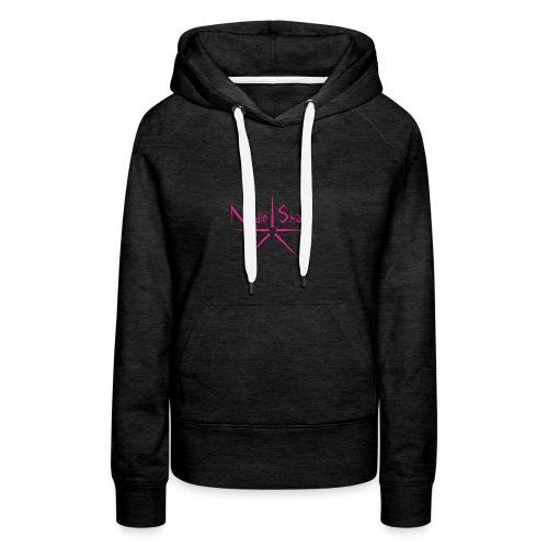 Logo Needle Sharp - Sweat-shirt à capuche Premium pour femmes