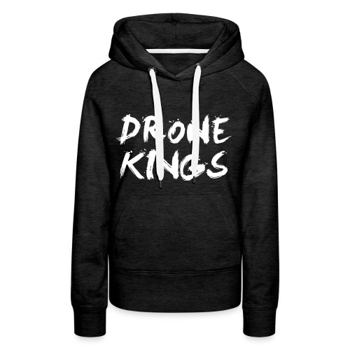 dronekings-whitetext-outlines - Premiumluvtröja dam