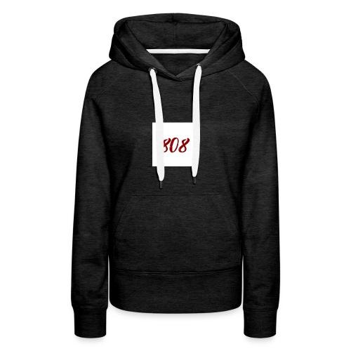 808 red on white box logo - Women's Premium Hoodie