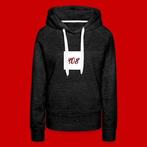 red on white 808 box logo - Women's Premium Hoodie