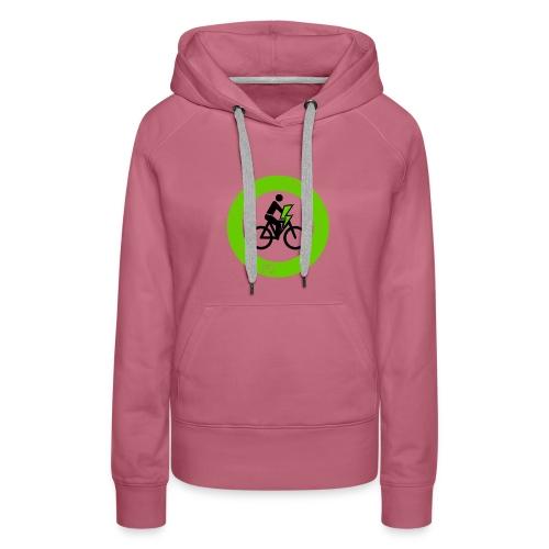 e Bike grün schwarz Schild Logo Emblem - Frauen Premium Hoodie