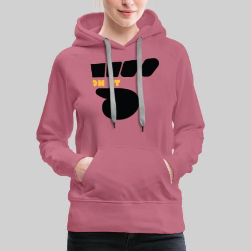 Logo 5 on It noir / jaune - Sweat-shirt à capuche Premium pour femmes