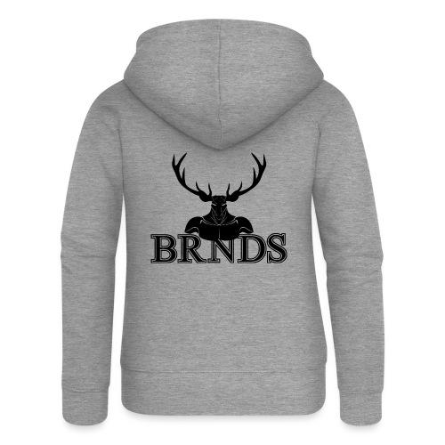 BRNDS - Felpa con zip premium da donna