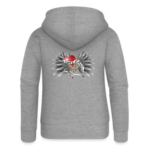 Love, Peace and Hope - Liebe, Frieden, Hoffnung - Frauen Premium Kapuzenjacke