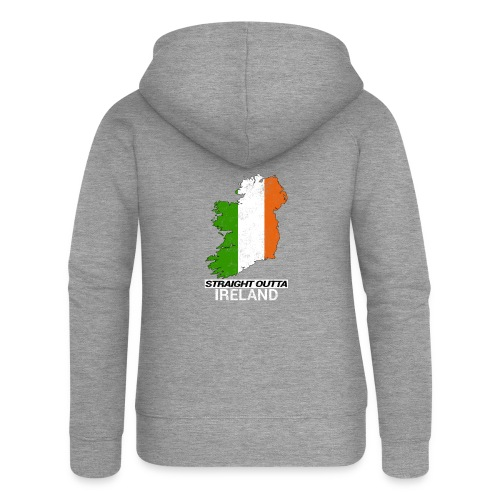 Straight Outta Ireland (Eire) country map flag - Women's Premium Hooded Jacket