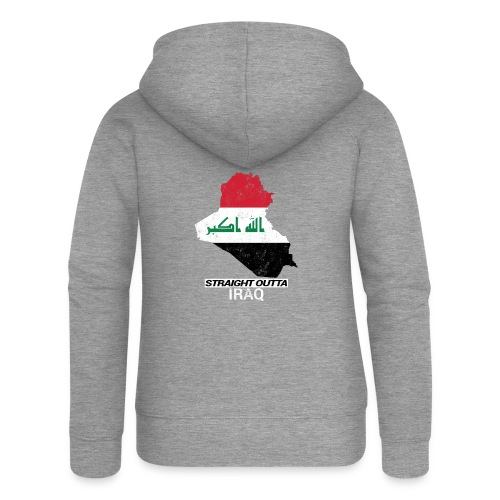Straight Outta Iraq country map & flag - Women's Premium Hooded Jacket