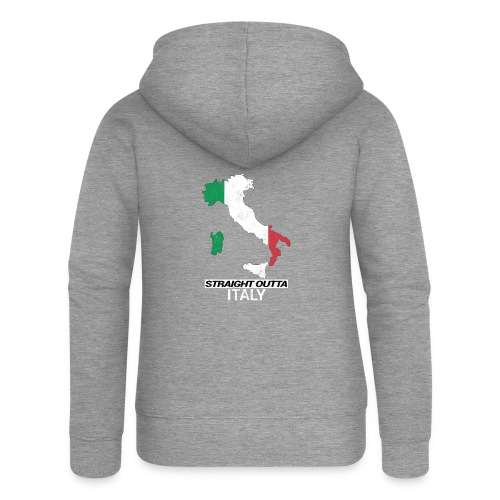Straight Outta Italy (Italia) country map flag - Women's Premium Hooded Jacket