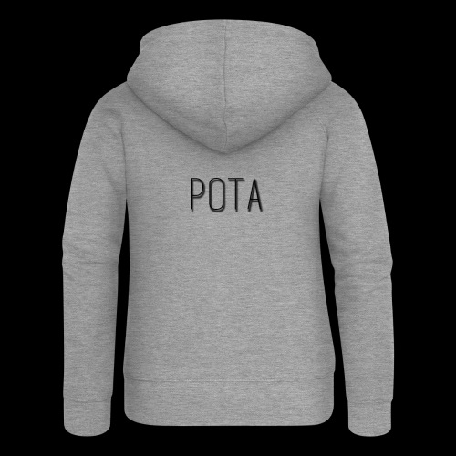 pota2 - Felpa con zip premium da donna