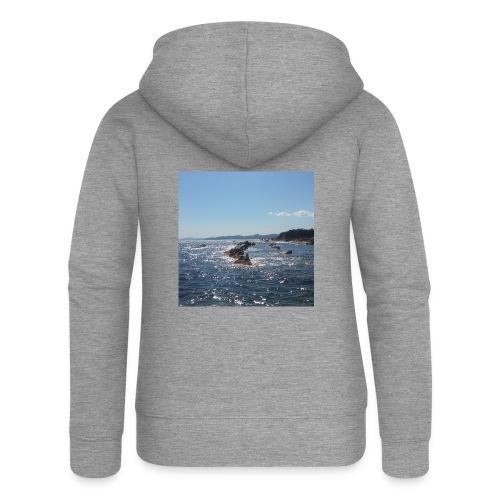 Mer avec roches - Veste à capuche Premium Femme