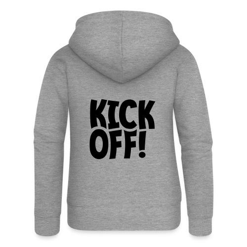 Slogan Kick off. Aftrap of meeting concept. - Vrouwenjack met capuchon Premium