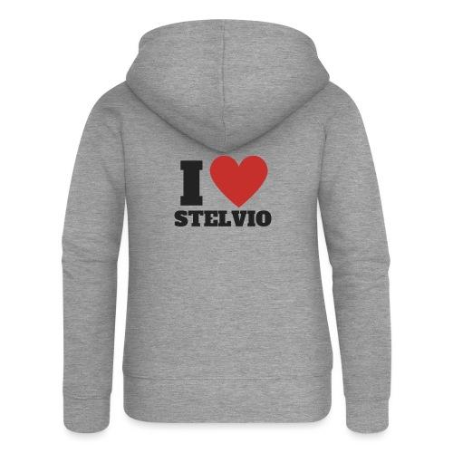 Ich liebe Stelvio - Frauen Premium Kapuzenjacke