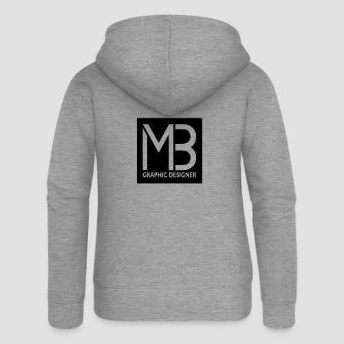 Logo MB Graphic Designer Black - Felpa con zip premium da donna