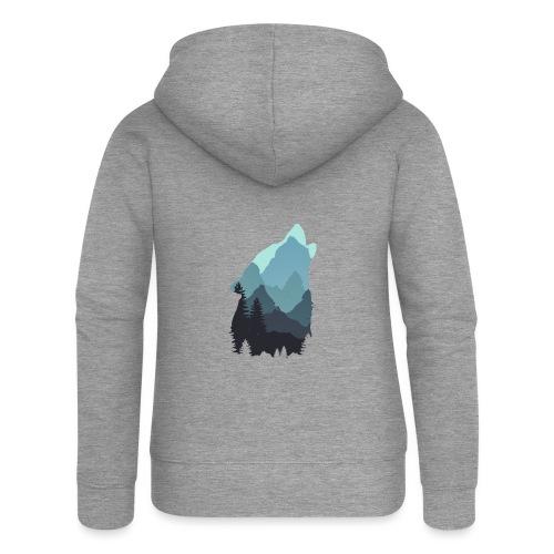 Wolf - Women's Premium Hooded Jacket