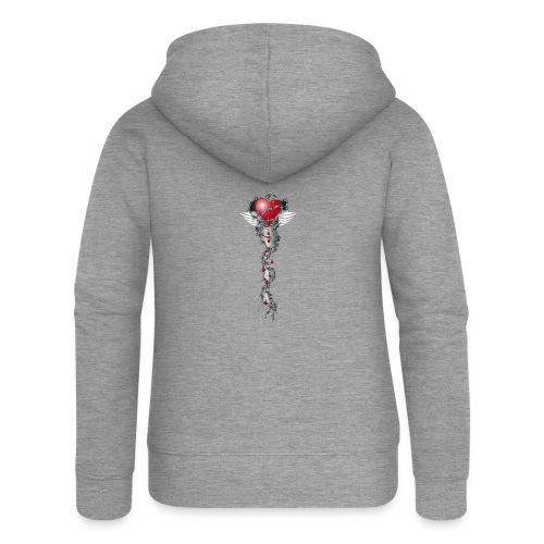 Barbwired Heart 2 - Herz in Stacheldraht - Frauen Premium Kapuzenjacke