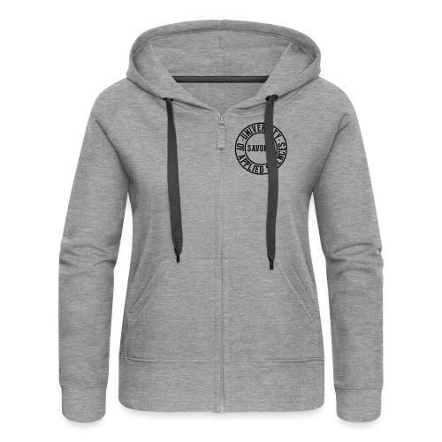tprint 01 back black - Women's Premium Hooded Jacket