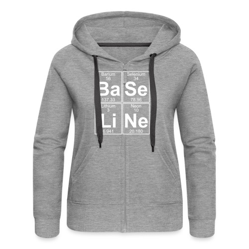 Ba-Se-Li-Ne (baseline) - Full - Women's Premium Hooded Jacket