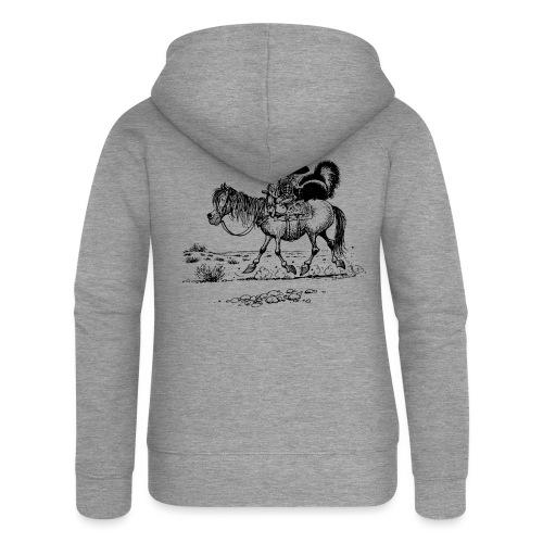 Thelwell Cowboy mit einem Stinktier - Frauen Premium Kapuzenjacke