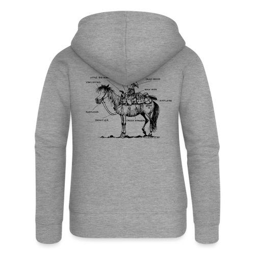 Thelwell Cartoon Bescheribung Westernpferd - Frauen Premium Kapuzenjacke
