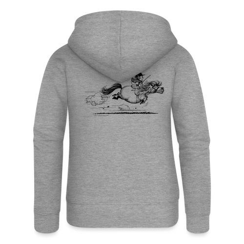 PonySprint Thelwell Cartoon - Women's Premium Hooded Jacket