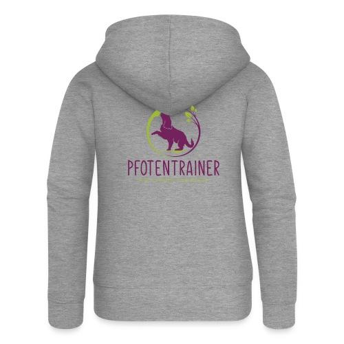 Pfotentrainer_groß - Frauen Premium Kapuzenjacke