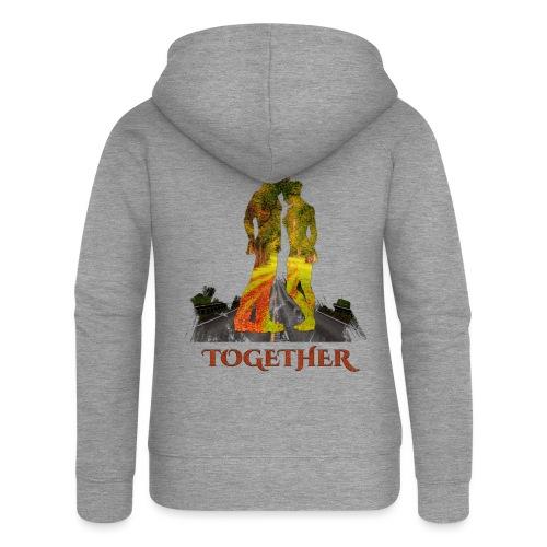Together -by- T-shirt chic et choc - Veste à capuche Premium Femme