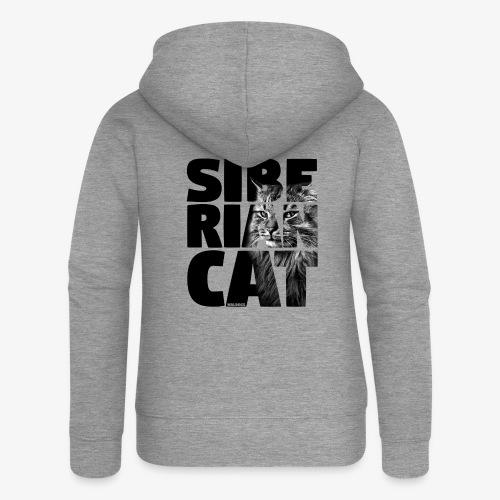 Siberian Cat Black - Naisten Girlie svetaritakki premium