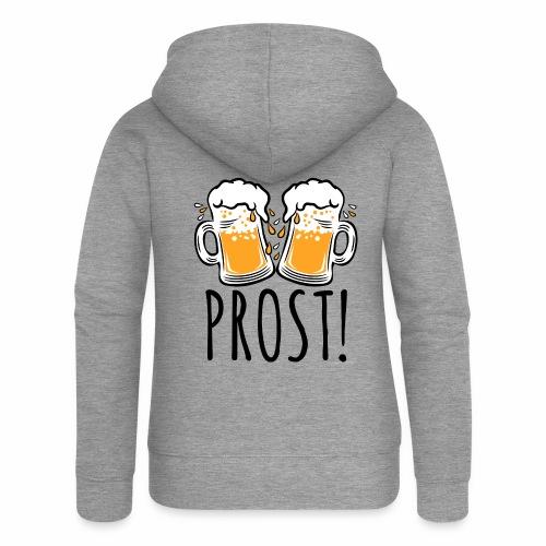 03 Zwei Mass Bier PROST 3c - Frauen Premium Kapuzenjacke