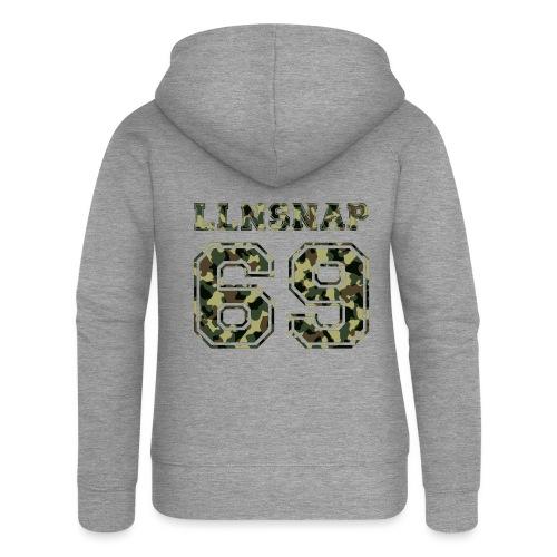 LLNsnap 69 (camo) - Veste à capuche Premium Femme