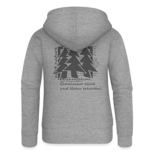 #ZeichenSetzen #WaldStille - Frauen Premium Kapuzenjacke