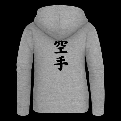 karate - Rozpinana bluza damska z kapturem Premium